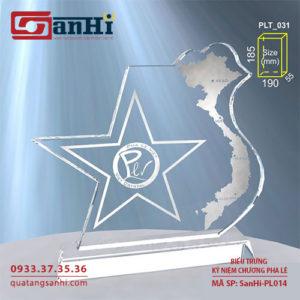 kỷ niệm chương pha lê SanHi-PL014