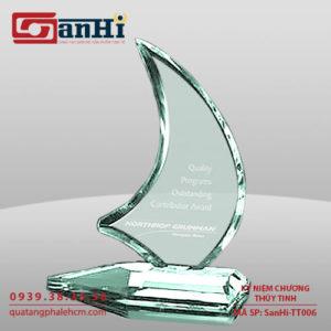 Kỷ niệm chương thuỷ tinh SanHi-TT006