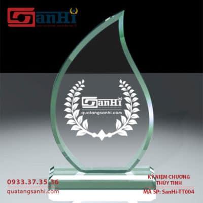 Kỷ niệm chương thuỷ tinh SanHi-TT004
