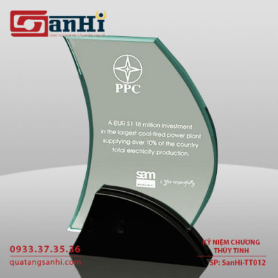 SanHi-TT012 Kỷ niệm chương thuỷ tinh