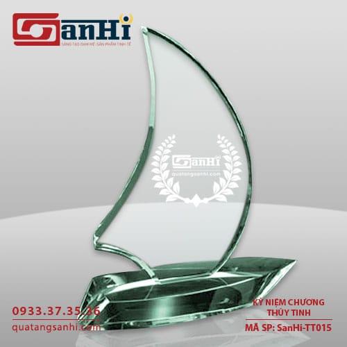 Kỷ niệm chương thuỷ tinh SanHi-TT015