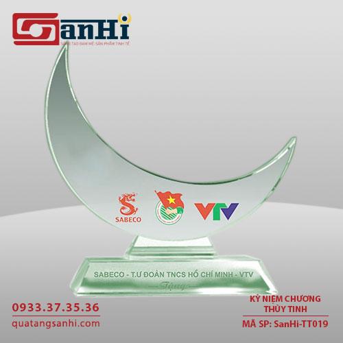 Kỷ niệm chương thuỷ tinh SanHi-TT019