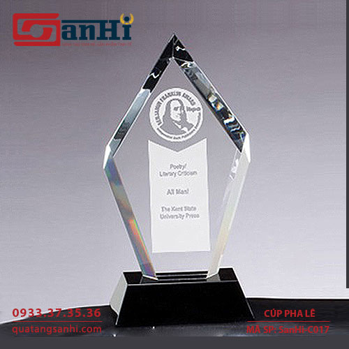 Cúp pha lê SanHi-C017
