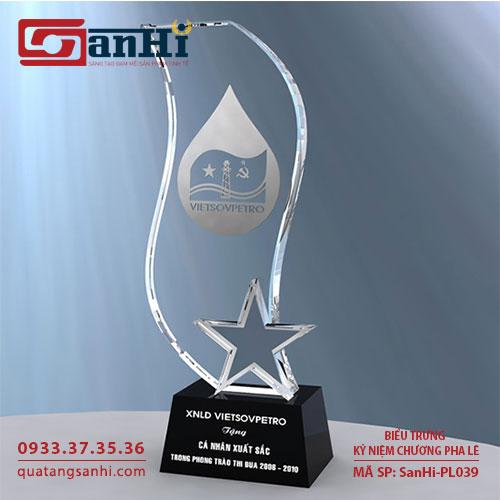 Kỷ niệm chương pha lê SanHi-PL039