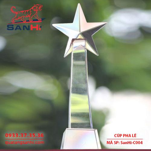 Cúp pha lê tôn vinh ngôi sao C004
