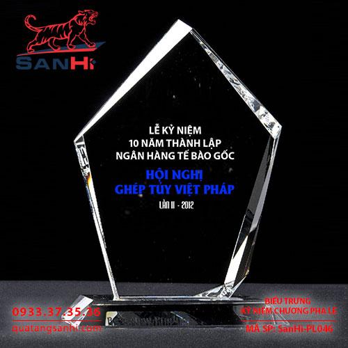 Kỷ Niệm Chương Pha Lê SanHi-PL046