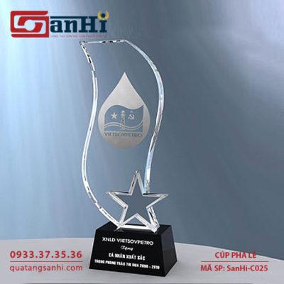 Cúp pha lê SanHi-C025