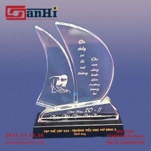 Kỷ Niệm Chương Pha Lê SanHi-PL059