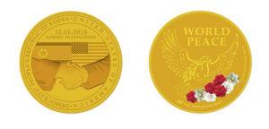 Phiên bản bằng vàng trị giá 1.000 USD và chỉ có 3.000 chiếc được sản xuất. Ảnh: AFP/Singapore Mint.