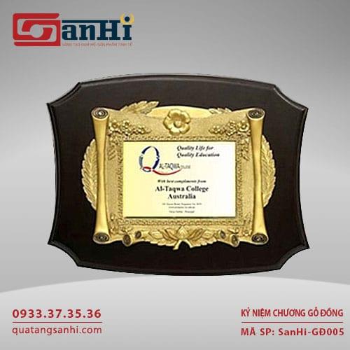 Kỷ Niệm Chương Gỗ Đồng SanHi-GD005