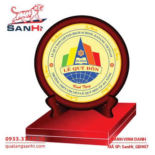 Bảng Vinh Danh đồng ăn mòn dạng đĩa, SanHi-GĐ007
