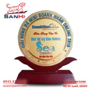 Bảng Vinh Danh đồng ăn mòn dạng hình tròn, SanHi-GĐ009