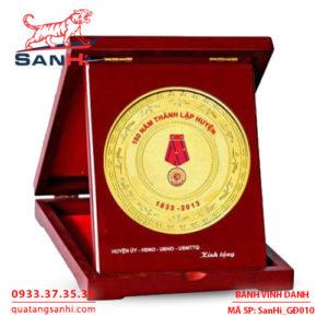 Bảng Vinh Danh đồng ăn mòn dạng hình chữ nhật hộp, SanHi-GĐ010