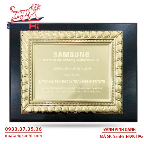 Bảng Vinh Danh Đồng mạ vàng SanHi-NK010G