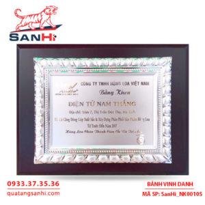 Bảng Vinh Danh Đồng mạ bạc SanHi-NK010S