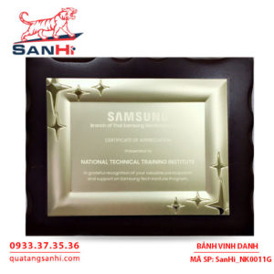 Bảng Vinh Danh Đồng mạ vàng SanHi-NK011G