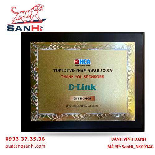 Bảng Vinh Danh Đồng mạ vàng SanHi-NK014G
