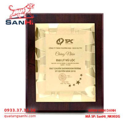 Bảng Vinh Danh Đồng mạ vàng SanHi-NK001G