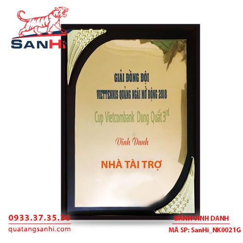 Bảng Vinh Danh Đồng mạ vàng SanHi-NK021G