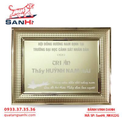 Bảng Vinh Danh Đồng mạ vàng SanHi-NK022G