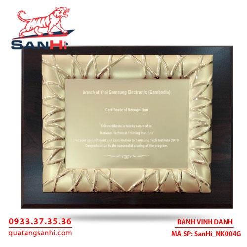 Bảng Vinh Danh Đồng mạ vàng SanHi-NK004G