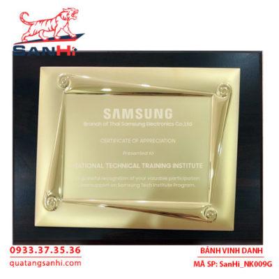Bảng Vinh Danh Đồng mạ vàng SanHi-NK009G