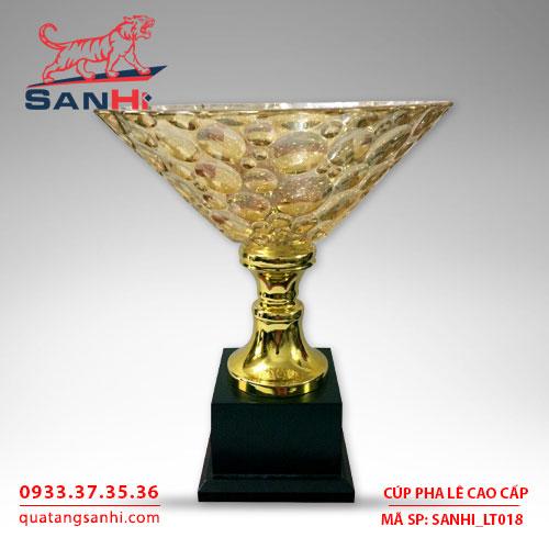 Cúp pha lê cao cấp tô thân vàng SanHi-LT018