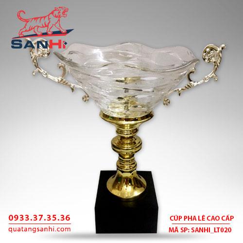 Cúp pha lê tô quai thân vàng cao cấp SanHi-LT020