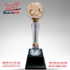 Cúp pha lê chén thân pha lê cao cấp SanHi-LT023