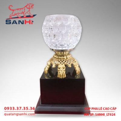 Cúp pha lê chén cao cấp SanHi-LT024