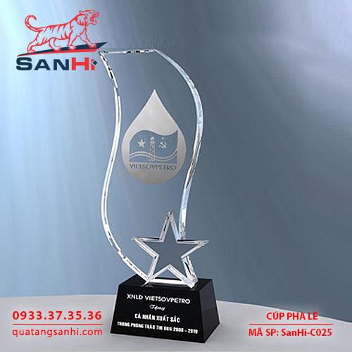 Cúp Pha Lê Ngôi Sao SanHi-C025