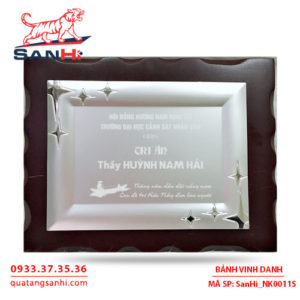 Bảng Vinh Danh Đồng mạ bạc SanHi-NK011S
