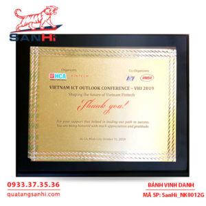 Bảng Vinh Danh Đồng mạ vàng SanHi-NK012G