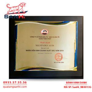 Bảng Vinh Danh Đồng mạ vàng SanHi-NK013G