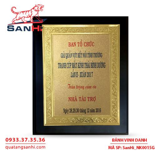 Bảng Vinh Danh Đồng mạ vàng SanHi-NK015G