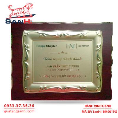 Bảng Vinh Danh Đồng mạ vàng SanHi-NK019G