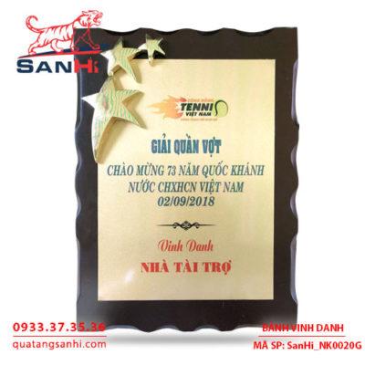 Bảng Vinh Danh Đồng mạ vàng SanHi-NK020G