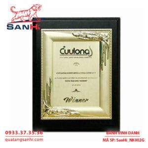 Bảng Vinh Danh Đồng mạ vàng SanHi-NK002G