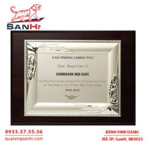 Bảng Vinh Danh Đồng mạ bạc SanHi-NK002S