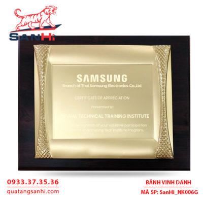 Bảng Vinh Danh Đồng mạ vàng SanHi-NK006G