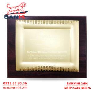 Bảng Vinh Danh Đồng mạ vàng SanHi-NK007G