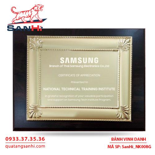 Bảng Vinh Danh Đồng mạ vàng SanHi-NK008G