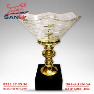 Cúp pha lê cao cấp tô thân vàng SanHi-LT004