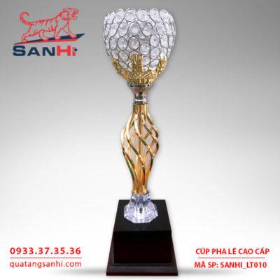 Cúp pha lê cao cấp chén thân vàng SanHi-LT010