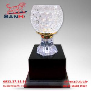 Cúp pha lê chén vàng cao cấp SanHi-LT022